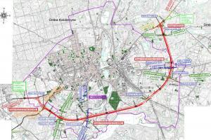 Obwodnica Kościerzyny w ciągu drogi krajowej nr 20 - mapa przebiegu