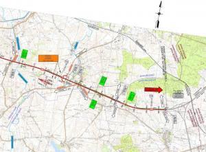 Droga ekspresowa S6 Ustronie Morskie - Koszalin: mapa odcinka Dobre - Koszalin/Sianów
