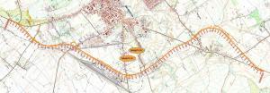 Mapa obwodnicy Hrubieszowa w ciągu drogi krajowej nr 74