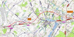 Droga ekspresowa S17 Garwolin - Kurów: mapa odcinka granica woj. (Garwolin) - Ryki/Moszczanka