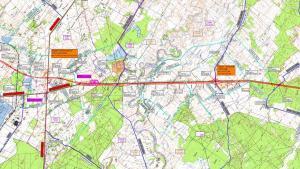 Droga ekspresowa S17 Garwolin - Kurów: mapa odcinka Ryki/Moszczanka - Skrudki