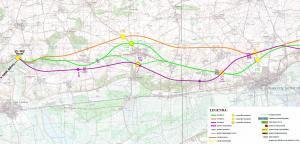 Droga ekspresowa S10. Mapa przebiegu odcinka Wyrzysk - Nakło