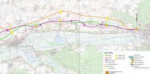 Droga ekspresowa S10. Mapa przebiegu odcinka Nakło - Bydgoszcz