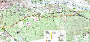 Droga ekspresowa S10. Mapa przebiegu odcinka Bydgoszcz - Solec Kujawski