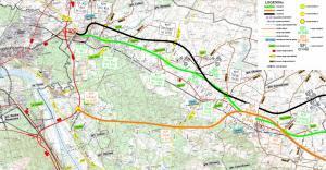 Droga ekspresowa S10. Mapa przebiegu odcinka Toruń - Czernikowo