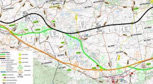 Droga ekspresowa S10. Mapa przebiegu odcinka Czernikowo - Lipno