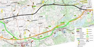 Droga ekspresowa S10. Mapa przebiegu odcinka Lipno - Blinno