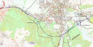 Droga ekspresowa S6 Lebork - Gdynia. Mapa odc. obwodnicy Lęborka