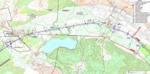 Droga ekspresowa S6 Lebork - Gdynia. Mapa odc. Lebork - Łęczyce