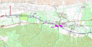 Droga ekspresowa S6 Lebork - Gdynia. Mapa odc. Łęczyce - Bożepole