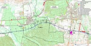 Droga ekspresowa S6 Lebork - Gdynia. Mapa odc. Strzebielino - Luzino