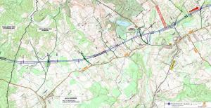 Droga ekspresowa S6 Lebork - Gdynia. Mapa odc. Częstkowo - Szemud