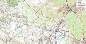 Droga ekspresowa S6 Lebork - Gdynia. Mapa odc. Koleczkowo - Gdynia