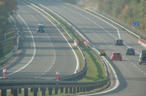 Sprawniej pojedziemy autostradą A6 - ruch puszczony dwoma pasami
