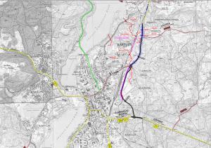 Mapa przebiegu obwodnicy Kartuz w ciągu DW224