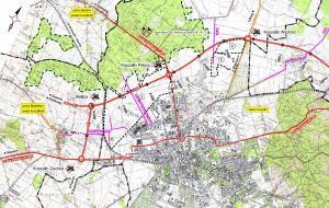 Mapa przebiegu obwodnicy Koszalina w ciagu drogi ekspresowej S6