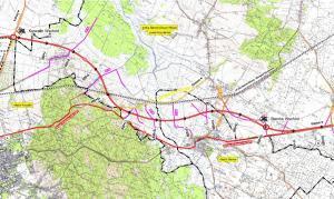 Mapa przebiegu obwodicy Sianowa w ciagu drogi ekspresowej S6