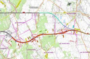 Obwodnica Marek: mapa przebiegu odcinka drogi ekspresowej S8 Kobyłka - Radzymin