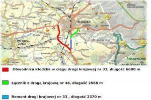 Obwodnica Kłodzka w ciągu drogi krajowej nr 33 i łacznik z DK46