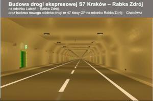 Budowa S7: 6 firm chce budować odcinek tunelowy Zakopianki