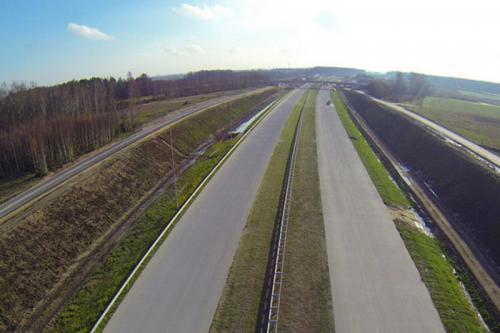 Wypadek i korek na autostradzie A1 koło Łodzi