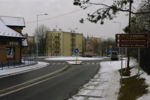Nowoczesne ronda na DW964 w Wieliczce