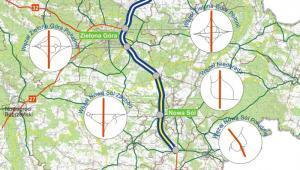Mapa drogi ekspresowej S3 Zielona Góra - Niedoradz- Sulechów