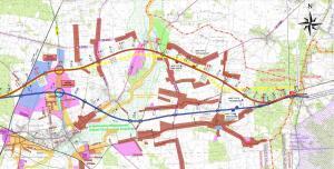 Mapa drogi ekspresowej S12 Piotrków Trybunalski - Opoczno. Odcinek Opoczno - granica woj.