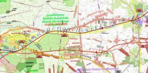 Mapa drogi ekspresowej S12 Piotrków Trybunalski - Opoczno. Odcinek Sulejów - Kozenin