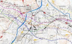 Mapa drogi ekspresowej S74 - obwodnica Sandomierza i Tarnobrzegu