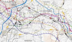 Mapa drogi ekspresowej S74: odcinek Sandomierz - Stalowa Wola