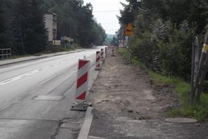 Wahadło na DK74 Kielce  - Opatów