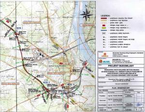 Mapa obwodnicy Góry Kalwarii w ciągu DK79 i DK50