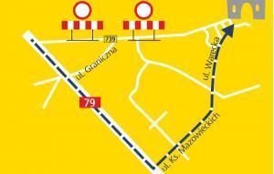 Mazowsze: Uwaga turyści - objazd DW739 do zamku w Czersku
