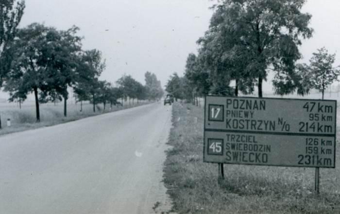 Drogi krajowe w Polsce - połowa XX wieku