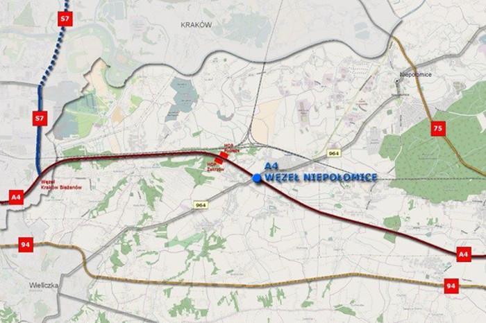 Nowy węzeł na autostradzie A4 powstanie w okolicach Niepołomic