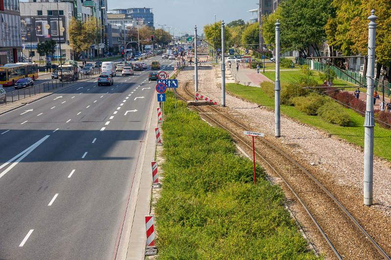 Warszawa: Usprawnienia na trasie Marynarska - Domaniewska