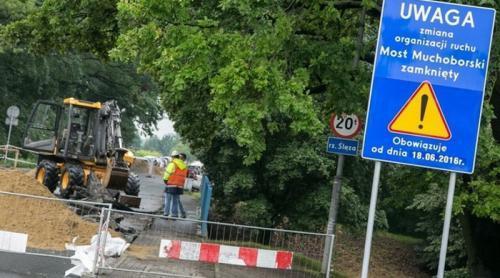 Zamknięty most Muchoborski i objazdy we Wrocławiu