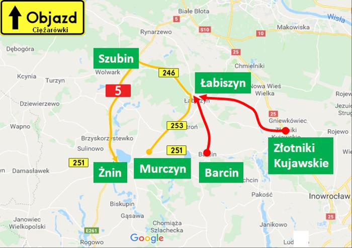 Kujawsko-pomorskie: Kolejne prace na DW251 ze Żnina do Damasławka
