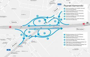 Remont na A2: Kolejny etap prac przy węźle Poznań Komorniki