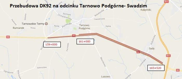 Przebudowa droga krajowa nr 92 pod Poznaniem
