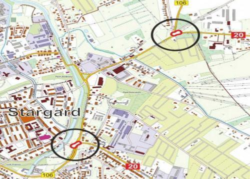 Nowe ronda na DK20 w Stargardzie poprawią bezpieczeństwo ruchu