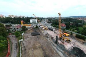 Postępuje budowa Trasy Łagiewnickiej w Krakowie