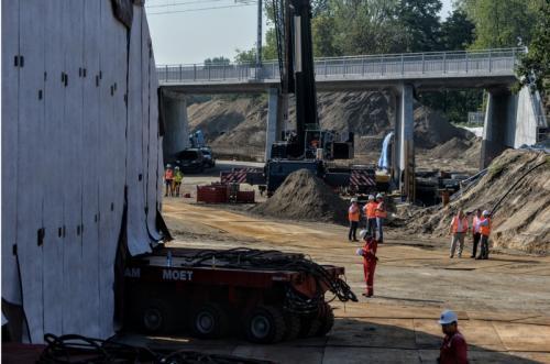 Trasa Świętokrzyska w Warszawie. Budowa tunelu
