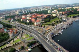 Szczecin: Remont Trasy Zamkowej paraliżuje ruch w centrum