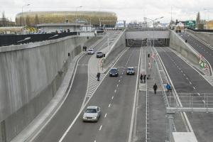 Gdańsk:  Tunel pod Martwą Wisłą ma rok