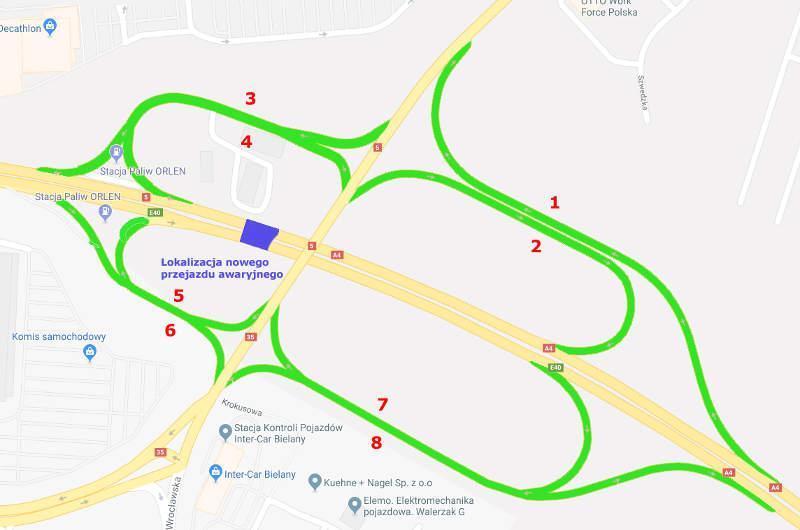 Organizacja ruchu w związku z remontem autostrady A4 - wezeł Bielański