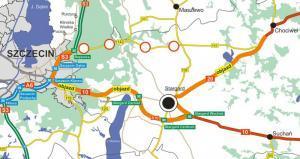 Na węźle Rzęśnica nie pojedziemy DW142 w kierunku Chociwla