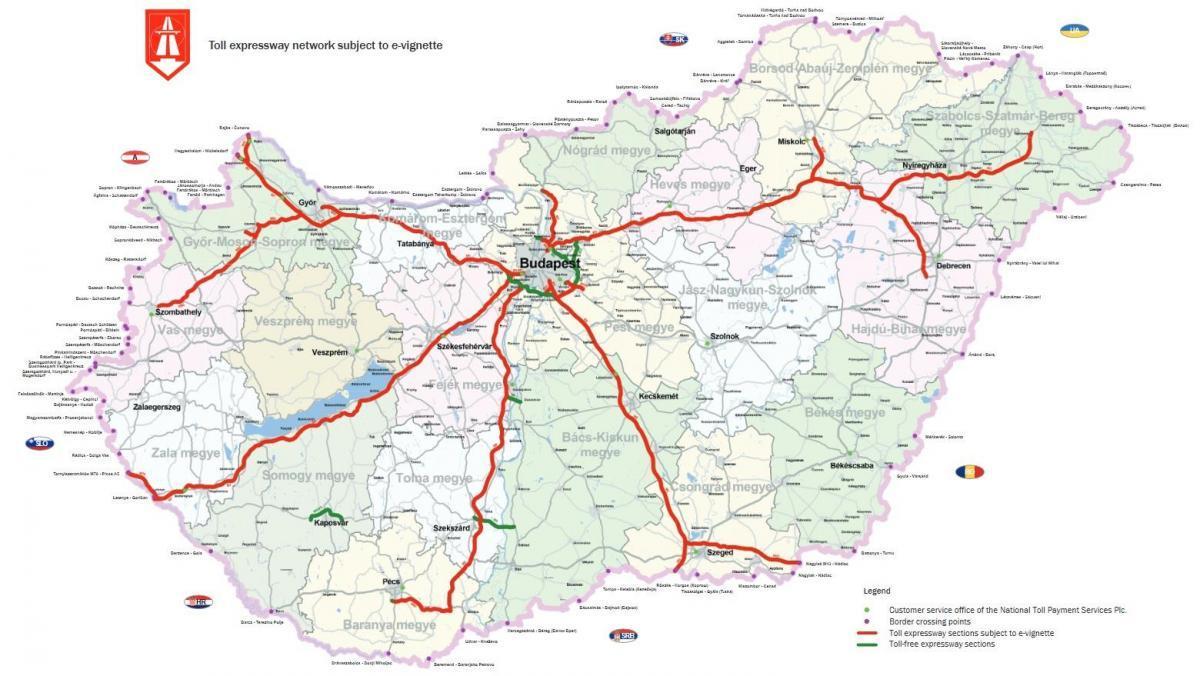 Winiety na Węgrzech - płatne odcinki dróg