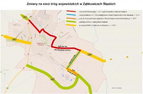Zmiany na sieci dróg wojewódzkich w dolnośląskim